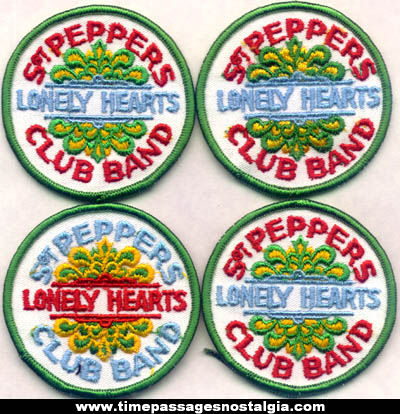 (4) Colorful Unused Beatles Sgt. Peppers Lonely Hearts Club Band Cloth Patches