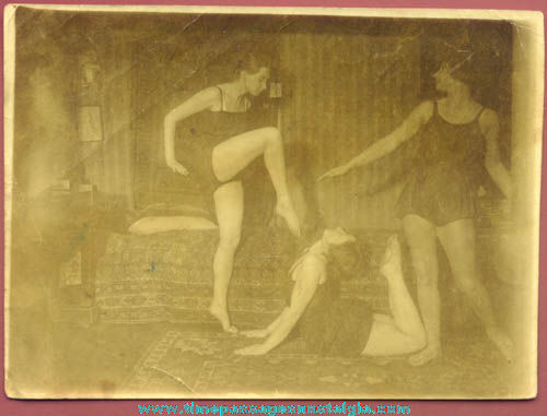 Old Unusual Risque Dancing Girls Photograph