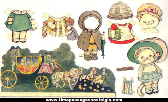 (17) Different Miscellaneous 1800s Victorian Paper Doll Items