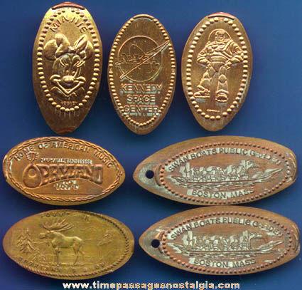 (7) Advertising Souvenir Elongated Pennies