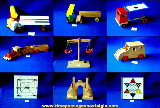 (17) Colorful Old Wooden Toy Manufacturer Photograph Slides