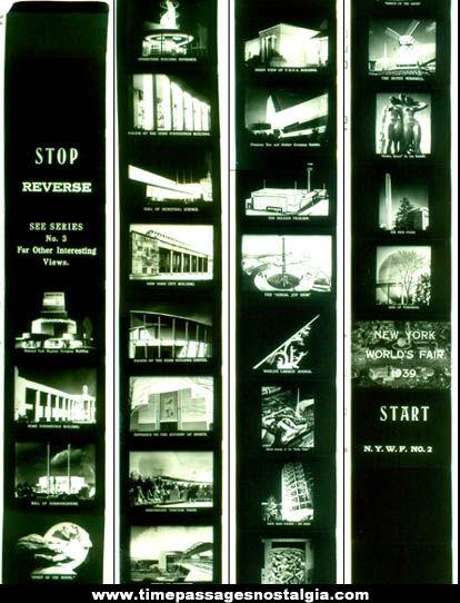 1939 New York World's Fair Souvenir Filmstrip and Viewer