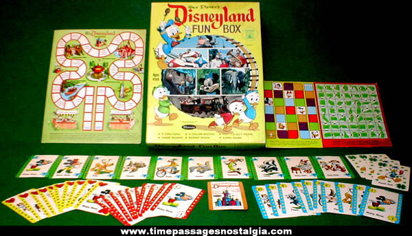 ©1965 Whitman Disneyland Fun Box With Contents
