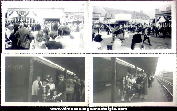 (8) Old Atlantic City Boardwalk & Train Station Photographs