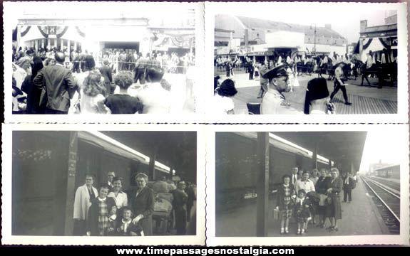 (8) Old Atlantic City Boardwalk & Train Station Photographs