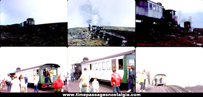 (12) Old Mount Washington, New Hampshire Cog Railway Photograph Slides