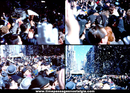 (13) 1962 Astronaut John Glenn New York Homecoming Ticker Tape Parade Photograph Slides