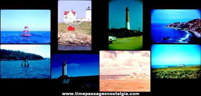 (8) Old Lighthouse and Buoy Photograph Slides