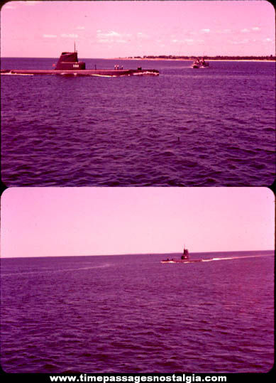 (2) 1960 U.S.S. Halfbeak SS-352 United States Navy Submarine Photograph Slides