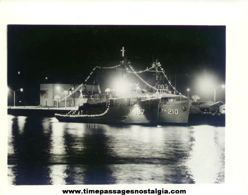 Old U.S.S. Salish (ATA-187) & U.S.S. Catawba (ATA-210) United States Navy Auxiliary Fleet Tug Photograph