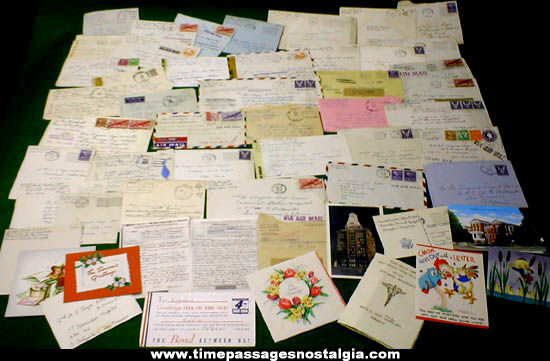 Large Lot Of World War II Nurse Correspondence Material