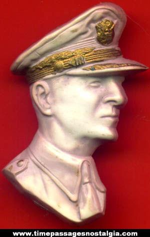 Old General Douglas MacArthur Profile Pin