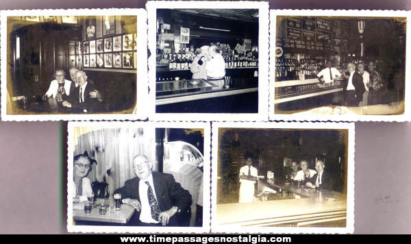 (5) Old Bar or Tavern Interior Photographs