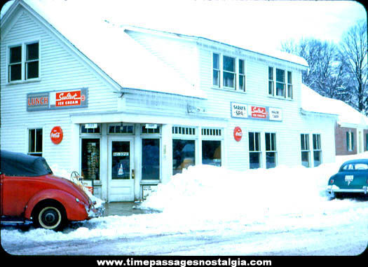 Old Sarah's Spa Diner & Bus Depot Sanbornville New Hampshire Photograph Slide