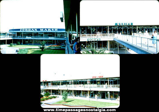 (3) Old Multi-Level Shopping Mall Photograph Slides