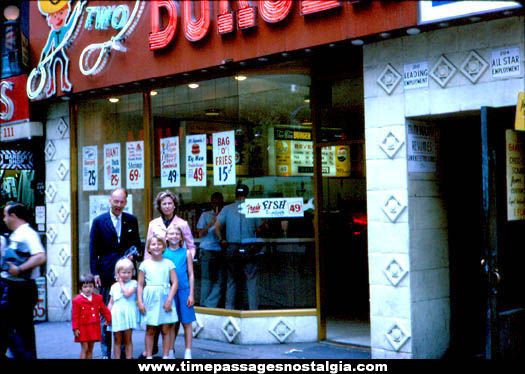 1964 Two-Two Burger Restaurant Store Front Photograph Slide