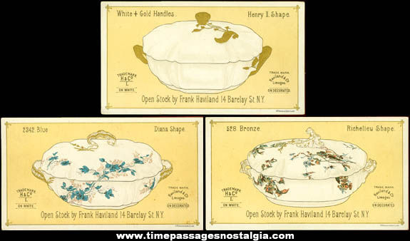 (7) Old Haviland & Company Limoges Advertising Trade Cards
