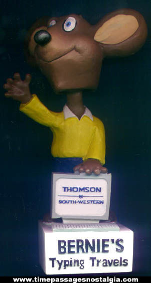 Thomson South Western Advertising Mouse Character Nodder Figure