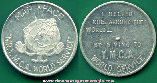 Old Metal Y.M.C.A. Advertising Premium Spinner Token Coin