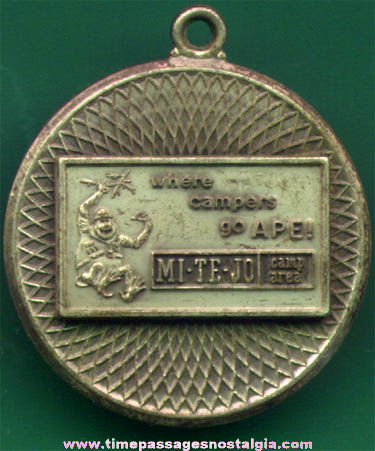 Old Metal MI-TE-JO Campground Advertising Fob Charm