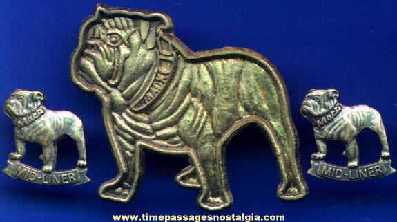 (3) Old Mack Truck Advertising Bull Dog Pins