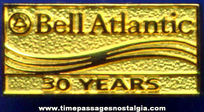 Bell Atlantic Telephone 30 Year Award Employee Advertising Pin