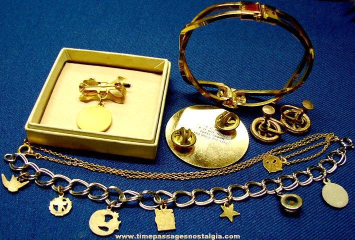 (6) Old Rebekah Fraternal Jewelry Items