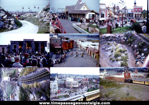 (37) 1960 Freedomland Amusement Park Color Photograph Slides