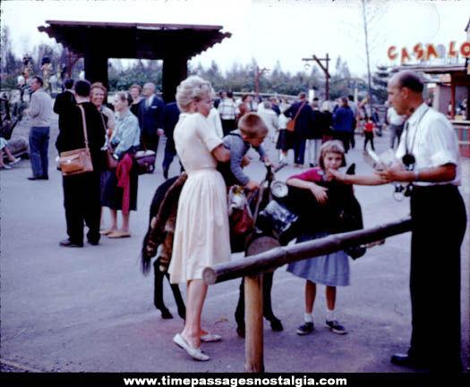 (37) 1960 Freedomland Amusement Park Color Photograph Slides