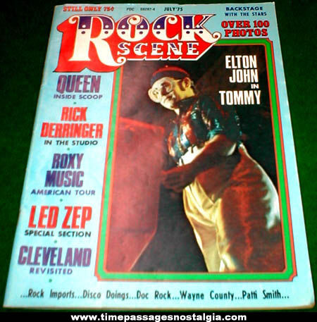 July 1975 Issue of Rock Scene Music Magazine