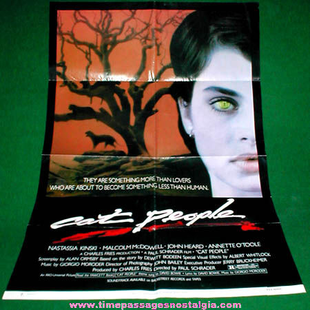 Colorful & Graphic ©1982 Cat People Movie Poster