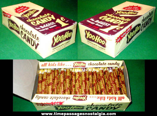 1960s Full Yoo Hoo Chocolate Penny Candy Display Box