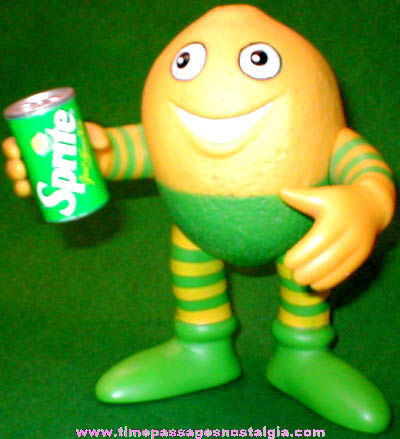 Old Lucky Lymon Sprite Talking Advertising Character Figure