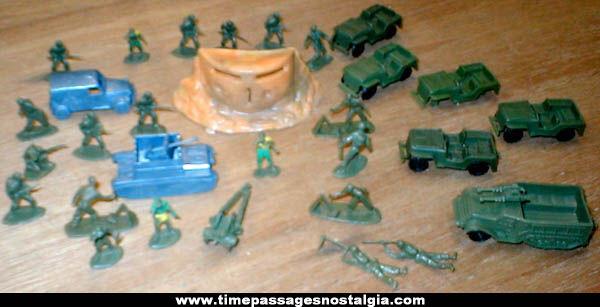 (164) Old MARX Toy Military Playset Items + Bonus Figures & Vehicles