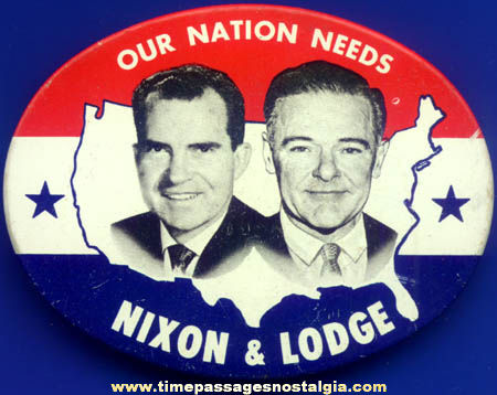 Old Oval Nixon - Lodge Political Campaign Pin Back Button