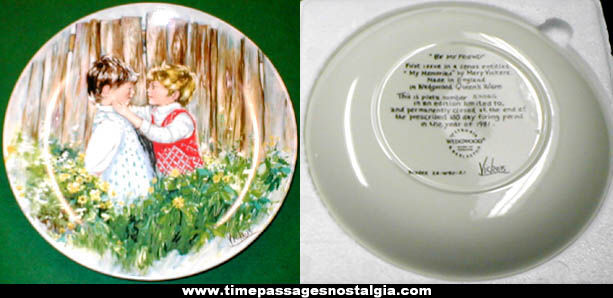 1981 Mary Vickers Wedgwood ''Be My Friend'' Numbered Collector Plate
