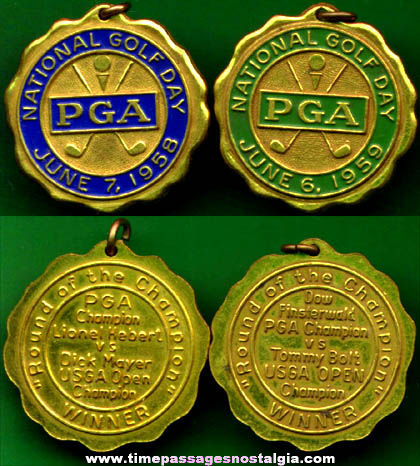 1958 & 1959 PGA Golf Award Medals