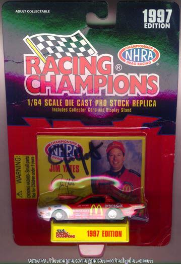 Unopened & Autographed 1997 McDonalds Pro Stock Diecast Racing Car