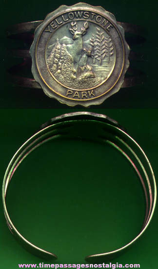 Old Yellowstone National Park Advertising Souvenir Bracelet