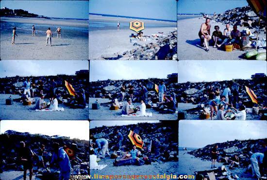 (27) 1960 Beach Party Color Photograph Slides