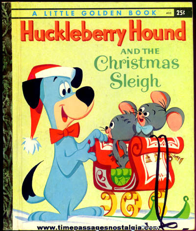 ©1960 Huckleberry Hound and the Christmas Sleigh Little Golden Book