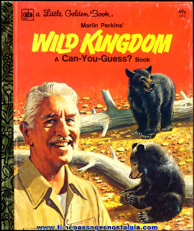 ©1976 Marlin Perkins Wild Kingdom Little Golden Book