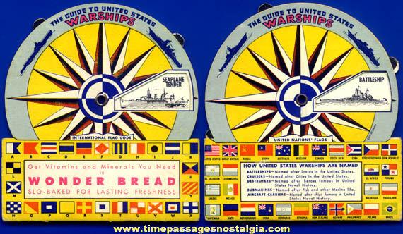 ©1943 Wonder Bread U.S. Navy War Ship Advertising Dial Premium