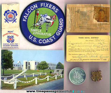 (7) Different Old United States Coast Guard Items