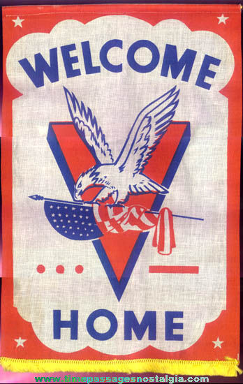 Colorful United States World War II Welcome Home Victory Banner