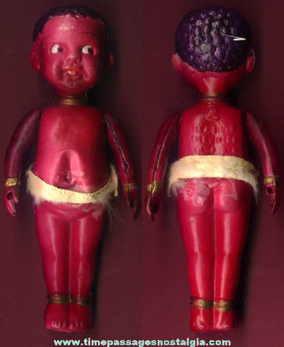 Old Celluloid Occupied Japan Black Boy Toy Doll