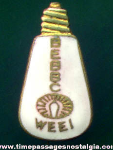 Old Enameled Light Bulb Advertising Pin