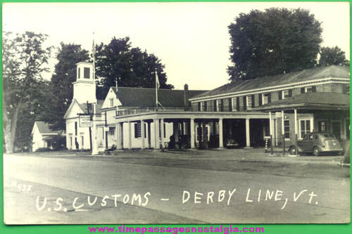 Old Unused Derby, Vermont United States Customs Station Real Photo Post Card