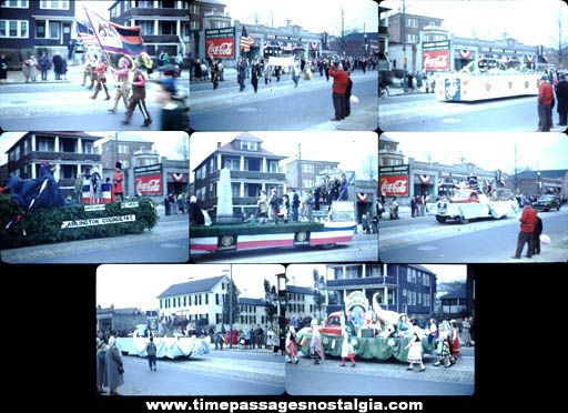(8) Old Arlington, Massachusetts Parade Photograph Slides