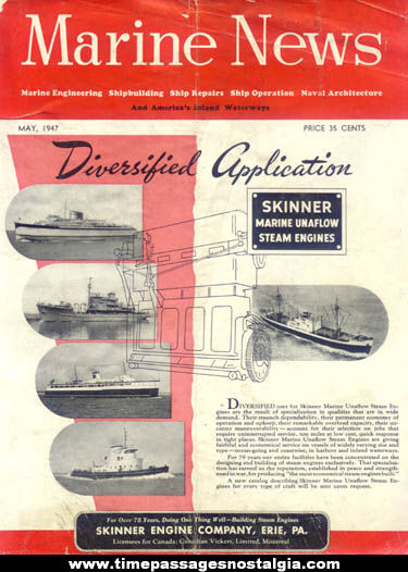 May 1947 Issue of Marine News Magazine